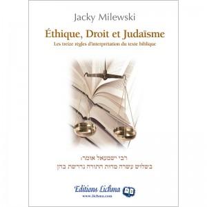 Ethique, Droit et Judaïsme